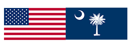 american and sc flag