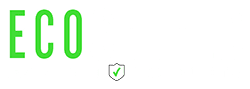ecoshield white outline logo